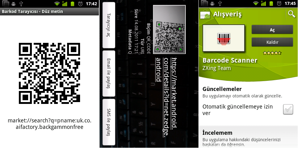Sample program - android qr code events, scan this qr code