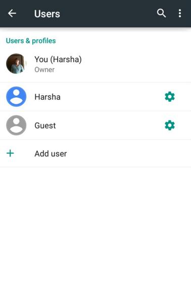 Android Çoklu Kullanıcı Ayarları