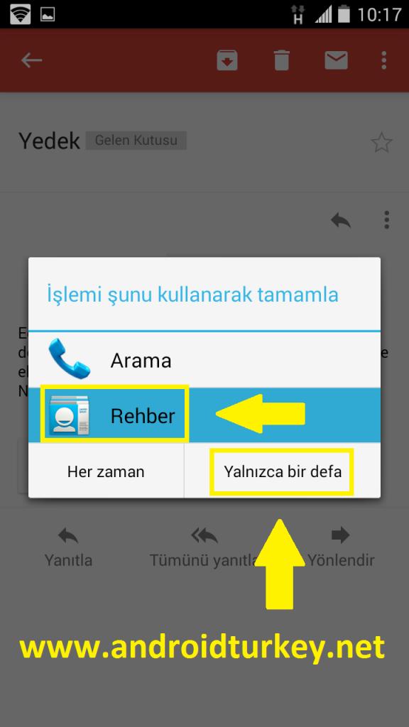 Android Rehber Yedekleme 4