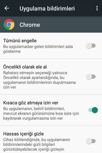 Android Uygulama Bildirimlerini Gizleme Kapatma
