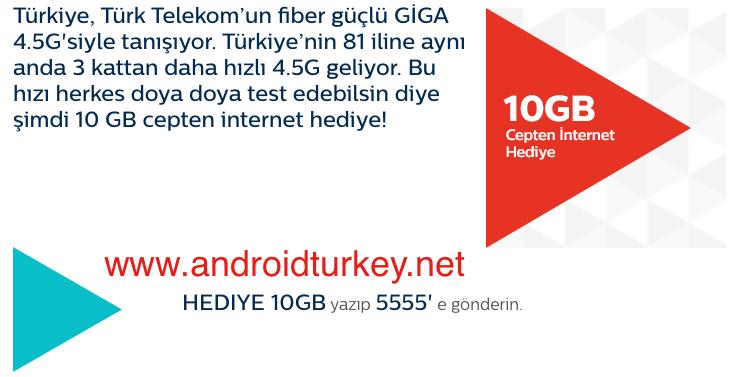 Türk Telekom 10 GB İnternet Giga 4.5G