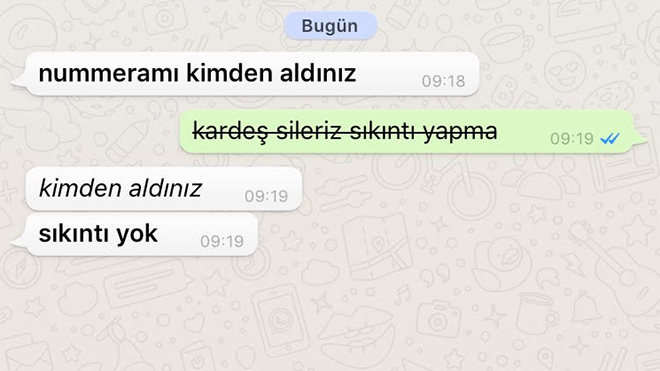 Android Whatsapp Yazı Stili
