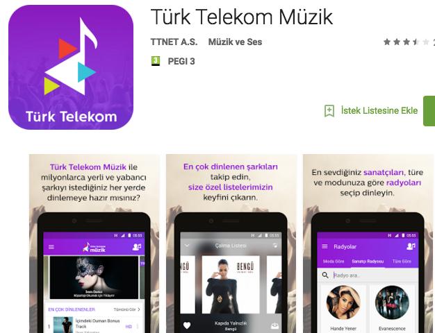 Türk Telekom müzik android