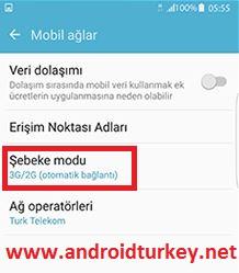 VoLTE Telefon Ayarları 2