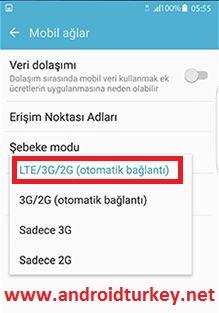 VoLTE Telefon Ayarları 3