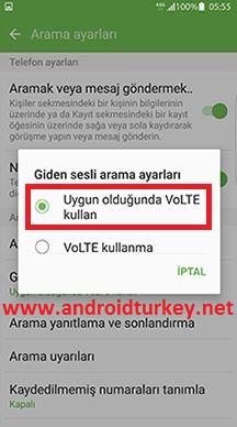 VoLTE Telefon Ayarları 5